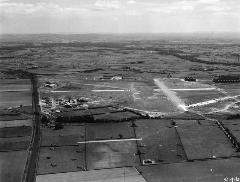 RAF Hawarden Aerial Photograph from WWII